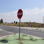 Rotonda en la raqueta de entrada a Torrelaguna