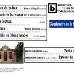 Septiembre en la Biblioteca de Torrelaguna