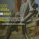Torrelaguna, salida de la carrera solidaria 100×100 CiclaMadrid