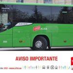 Cambio parada autobús