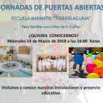Jornada Puertas Abiertas Escuela Infantil