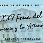 Sábado 28 de abril: XXI Feria Comercio y Artesanía
