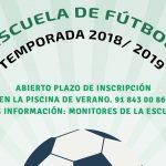 Abierto plazo inscripción Escuela de Fútbol