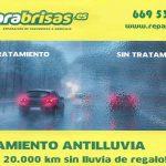 Tratamiento antilluvia gratuito para coches