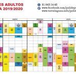 Actividades Polideportivo Torrelaguna 2019-2020