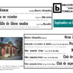 Programación Septiembre Biblioteca
