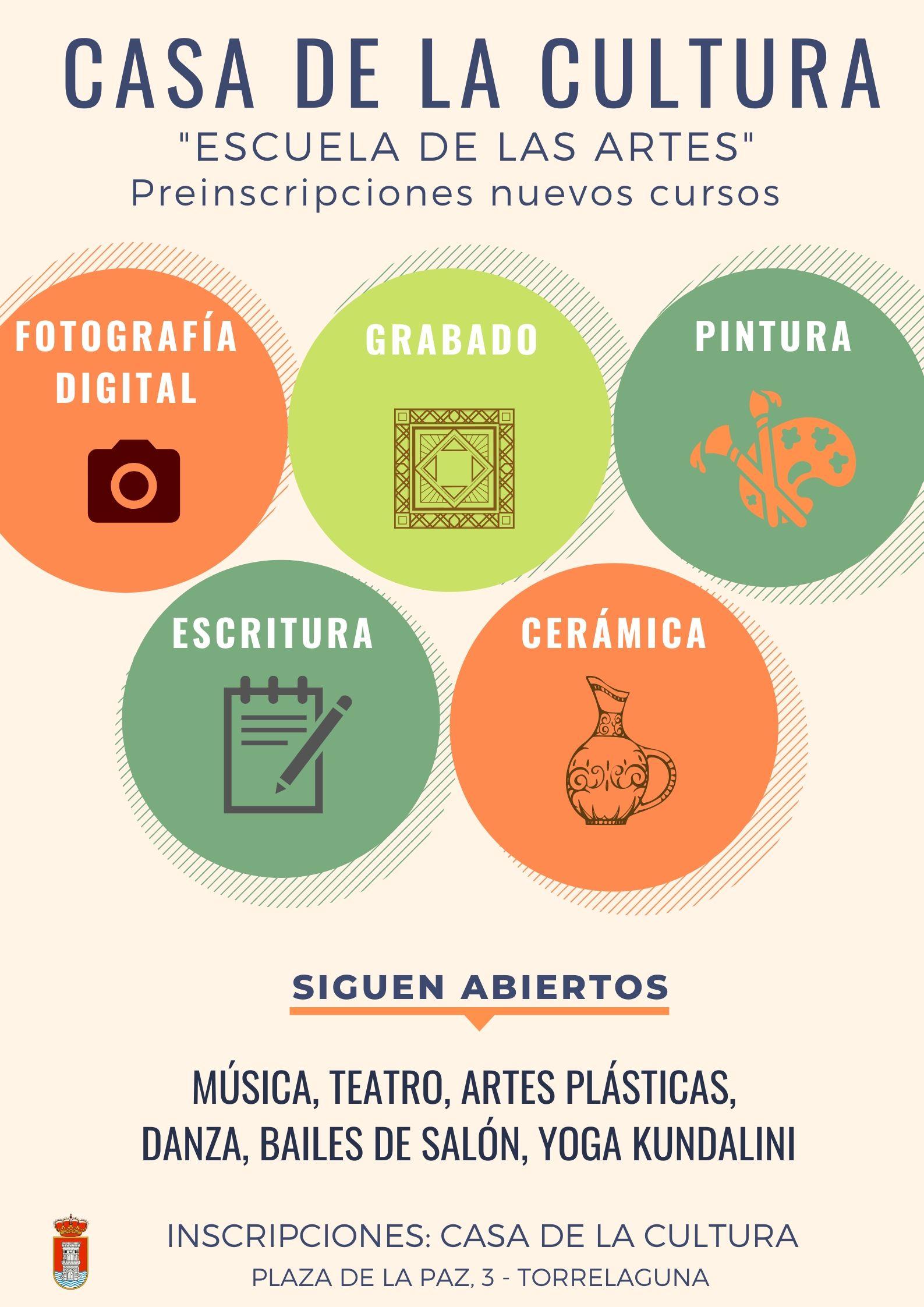 Cursos Escuela de las Artes en Casa de la Cultura de Torrelaguna