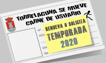 Carné Torrelaguna se mueve, temporada 2020