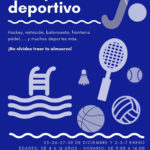 Campamento deportivo en el Polideportivo durante los días sin cole, Navidad 2019
