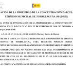Investigación de la propiedad de la concentración parcelaria del término municipal de Torrelaguna (Madrid)
