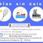 Días sin cole en el Polideportivo municipal Antonio Martín