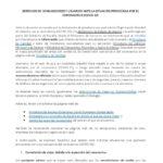 Derechos de consumidores y usuarios ante la situación provocada por el coronavirus COVID-19