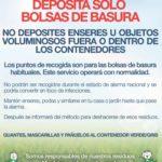 AVISO IMPORTANTE: DEPOSITA SOLO BOLSAS DE BASURA