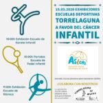 Exhibición de las escuelas deportivas de Karate, Padel y Gimnasia rítmica a favor del cáncer infantil