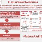 Servicios ofrecidos por el Ayuntamiento y Cruz Roja ante la emergencia sanitaria por COVID-19