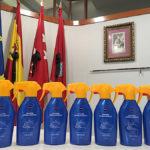 Donación y reparto de geles hidroalcohólicos