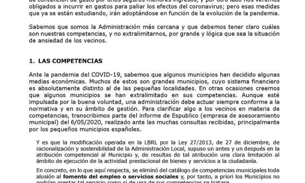 Situación y medidas económicas del Ayuntamiento de Torrelaguna ante la pandemia