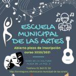 Escuela Municipal de las Artes, abierto plazo de inscripción curso 2020/2021