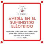 Aviso de avería en el suministro eléctrico