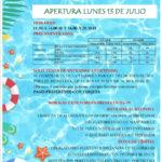 Apertura de la Piscina Municipal, verano 2020