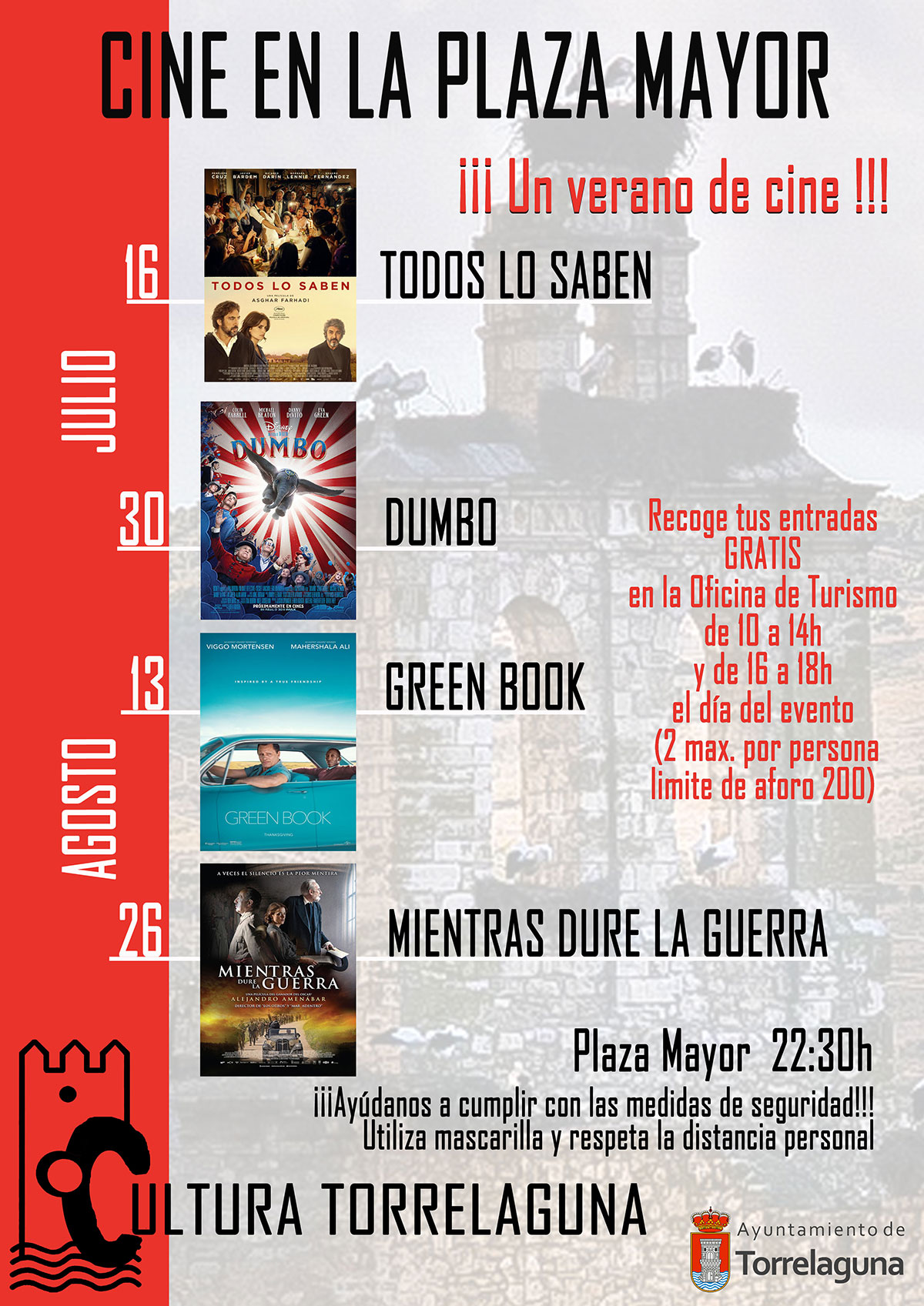 Cine en la Plaza Mayor de Torrelaguna