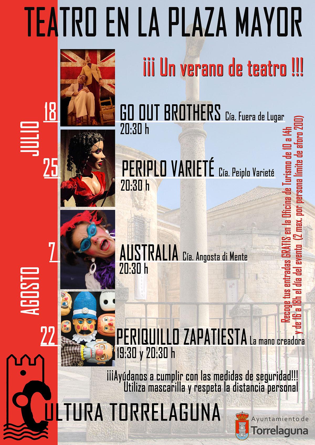 Teatro en la Plaza Mayor de Torrelaguna
