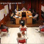 Vídeo Pleno Ordinario miércoles 24 de junio 2020