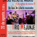 Música en las Villas de Madrid. TRÍO MEJUNJE: un viaje de colores musicales