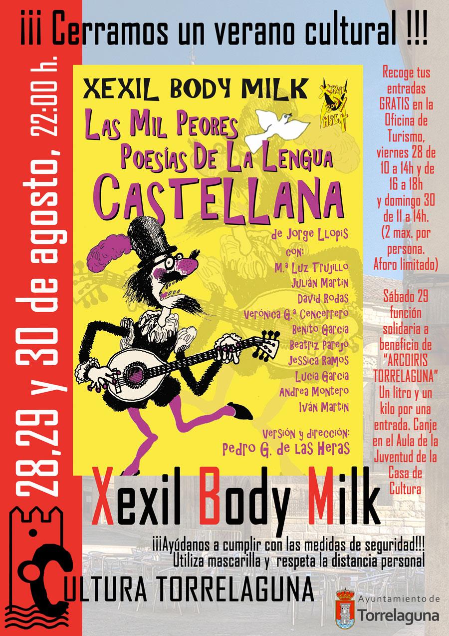 Teatro en Torrelaguna Xexil Body Milk y las mil peores poesías de la lengua castellana