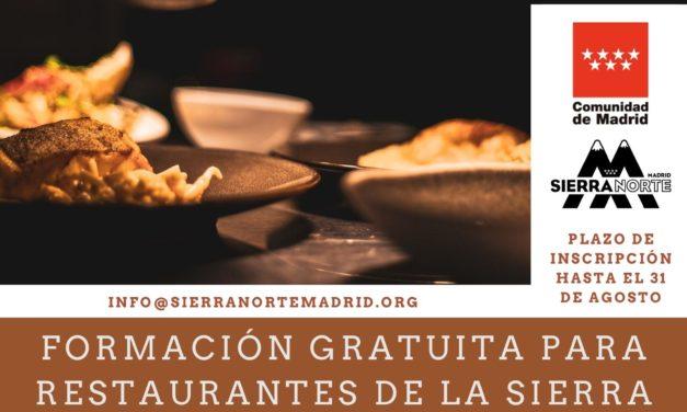 Formación gratuita para restaurantes de la Sierra Norte de Madrid