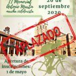"""Suspendida la II Marcha cicloturista, """"Memorial Antonio Martín"""""""