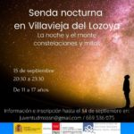Senda nocturna en Villavieja del Lozoya