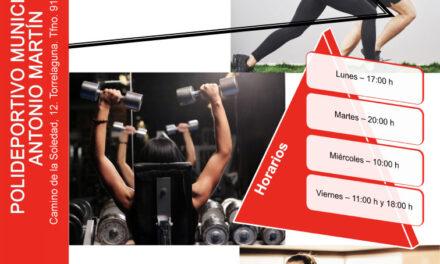 Actividades deportivas en el Polideportivo Antonio Martín