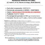 Ofertas de empleo DUE, Residencia AMAVIR PATONES