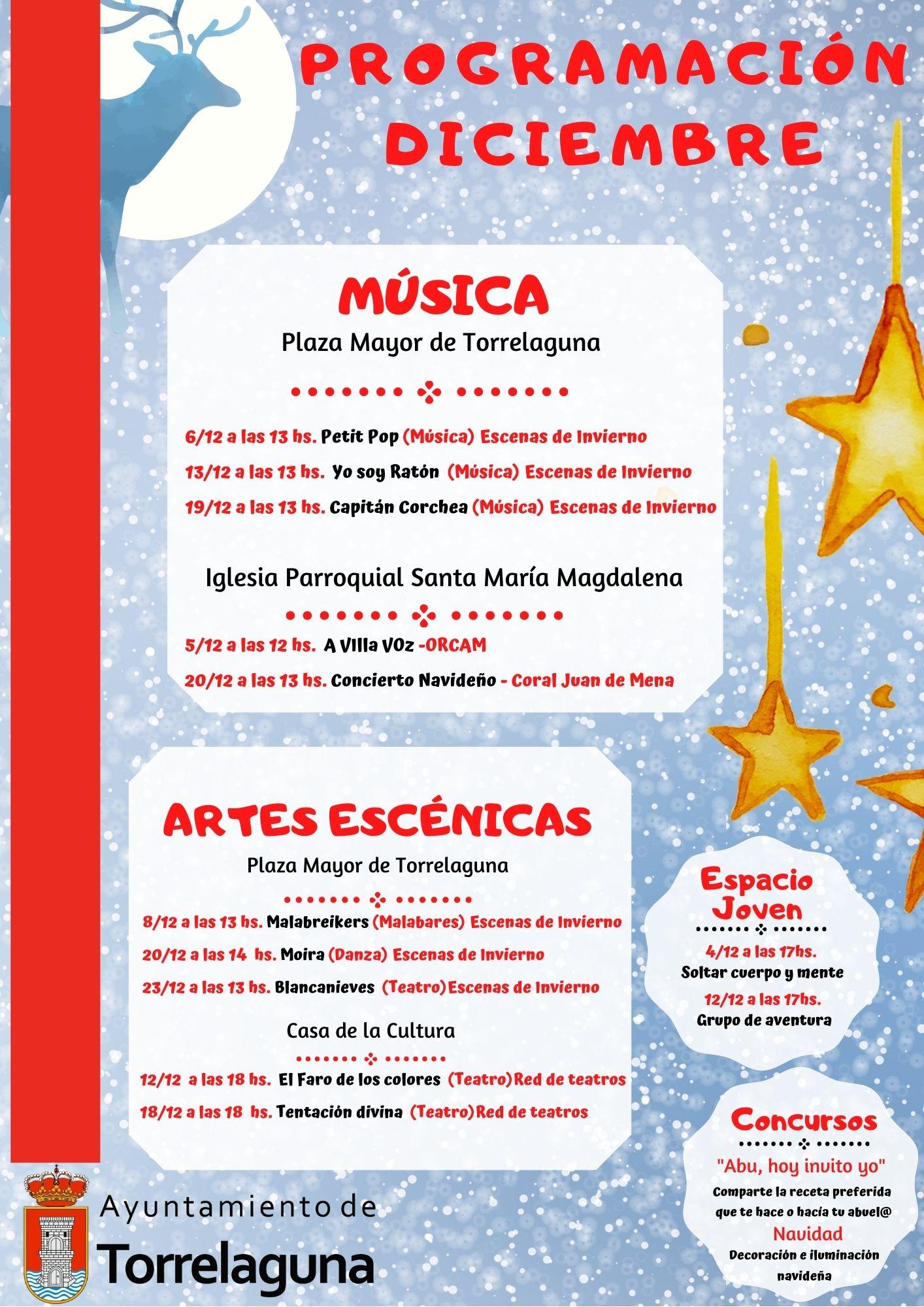 Programación diciembre 2020 en Torrelaguna