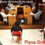 VÍDEO PLENO ORDINARIO MIÉRCOLES 30 DE SEPTIEMBRE 2020