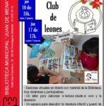 Talleres de animación a la lectura en la Biblioteca Juan de Mena