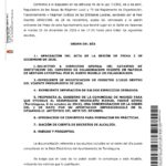 Convocatoria a Pleno ordinario, martes 22 de diciembre