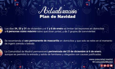 Plan Actualizado de la Comunidad de Madrid para Navidad