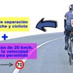 La DGT ha modificado las normas para adelantar a los ciclistas en la carretera