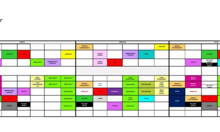 Horario de la parrilla de actividades en el Polideportivo, del 25 de enero al 8 de febrero