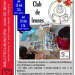 Club de Leones en la Biblioteca Juan de Mena
