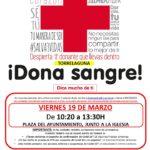Próximo viernes 19 de marzo, campaña de donación de sangre en Torrelaguna