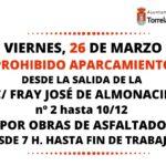ATENCIÓN: Obras en Fray José de Almonacid