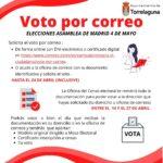 Voto por correo elecciones Asamblea de la Comunidad de Madrid