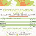Proceso de admisión de  alumnos y alumnas de la Escuela Infantil de Torrelaguna