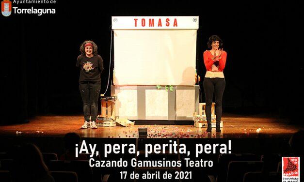 ¡Ay, pera, perita, pera!, teatro de títeres en Torrelaguna – 17 de abril de 2021