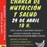 24 de abril – Seminario de Nutrición y Salud en la Casa de la Cultura