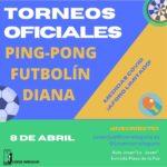 Torneos oficiales de ping-pong, futbolín y dardos en la Juven
