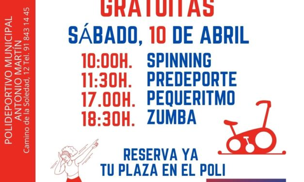 Semana de la Salud y el Deporte. Clases abiertas gratuitas en el Polideportivo